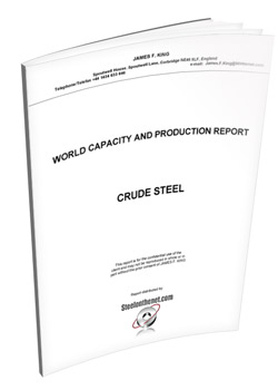 crude steel capacity - james king report