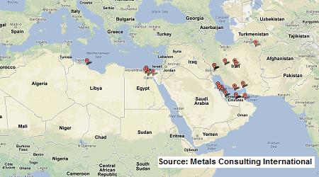 Middle East DRI plants