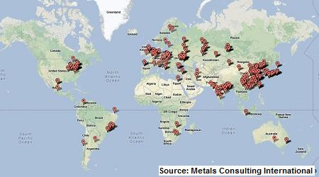 steel industry maps - coke plants