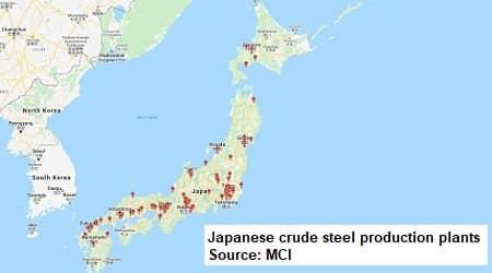 steel industry map